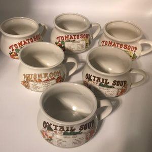 70's Vintage Soup Mugs/Bowls